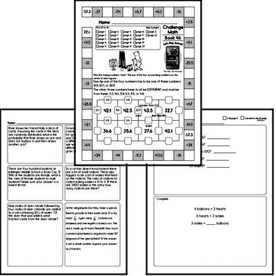 Weekly Math Worksheets for July 13
