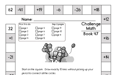 Weekly Math Worksheets for July 20