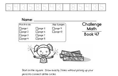 Weekly Math Worksheets for July 25