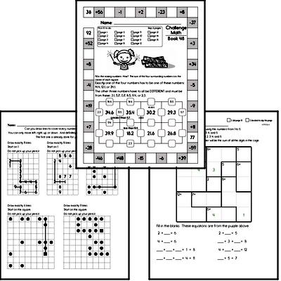 Weekly Math Worksheets for August 2
