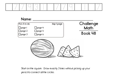 Weekly Math Worksheets for August 1