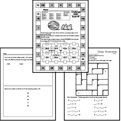 Weekly Math Workbook #49