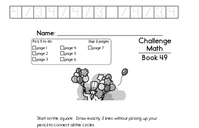 Weekly Math Worksheets for August 3
