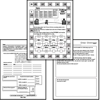 Weekly Math Workbook #4