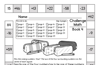 Weekly Math Worksheets for September 23