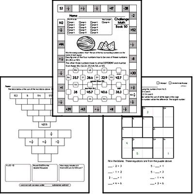 Weekly Math Worksheets for August 16