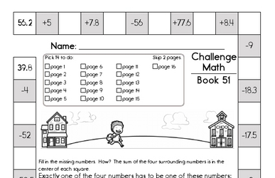 Weekly Math Worksheets for August 17