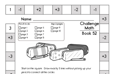 Weekly Math Worksheets for August 24