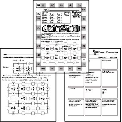 Weekly Math Workbook #52