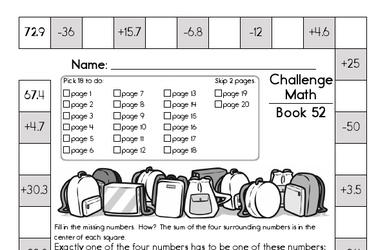 This Week's Math Workbook
