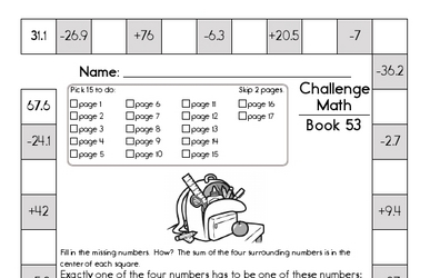 Weekly Math Worksheets for September 1
