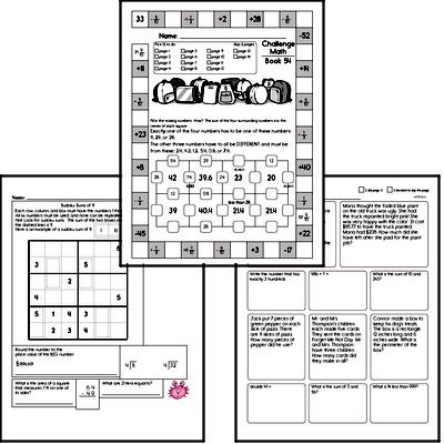 Weekly Math Workbook #54