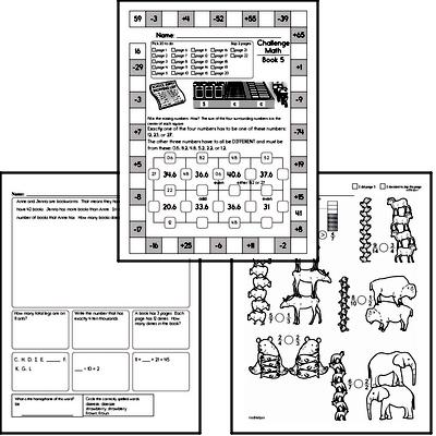 Weekly Math Worksheets for October 5