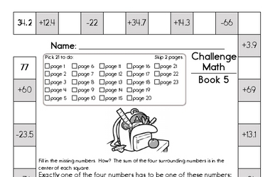 Weekly Math Worksheets for October 1
