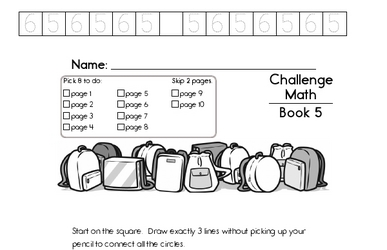 Weekly Math Worksheets for September 30