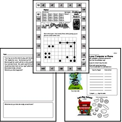 Weekly Math Worksheets for October 12