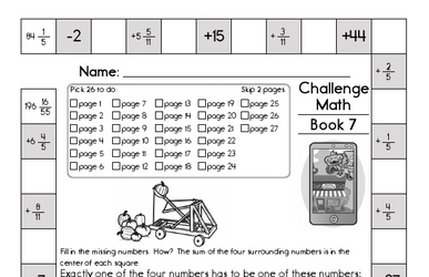 Weekly Math Worksheets for October 14