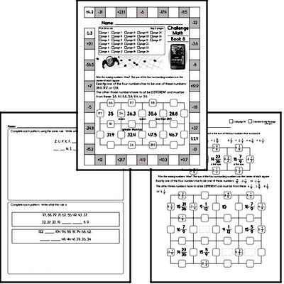Weekly Math Worksheets for October 21