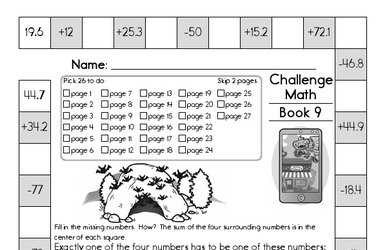 Weekly Math Worksheets for November 1