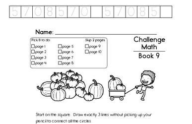 Weekly Math Worksheets for October 28