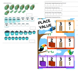 free place value worksheets not boring edhelper com rh edhelper com