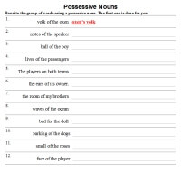 Possessive Nouns - Activities, Worksheets, Printables, and Lesson ...