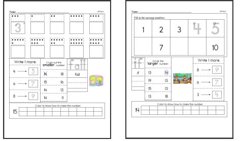 Kindergarten Worksheets Edhelper