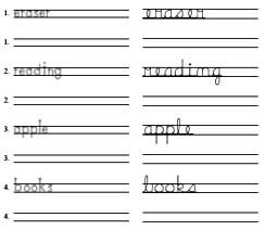 Print to Cursive Handwriting Practice - Words Printable Maker