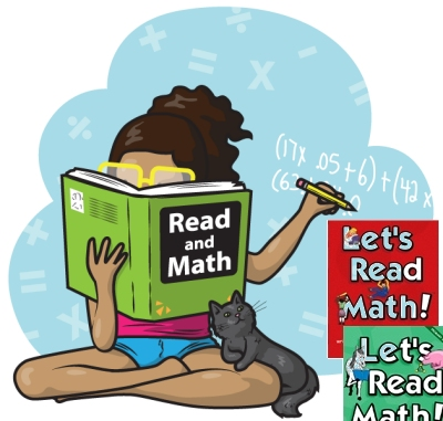 Print a read and math workbook with <i>Cynthia Rylant</i> reading comprehension.