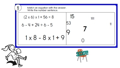 Scoot Order of Operations Math Games