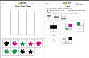 Shape Brain Teaser Worksheets