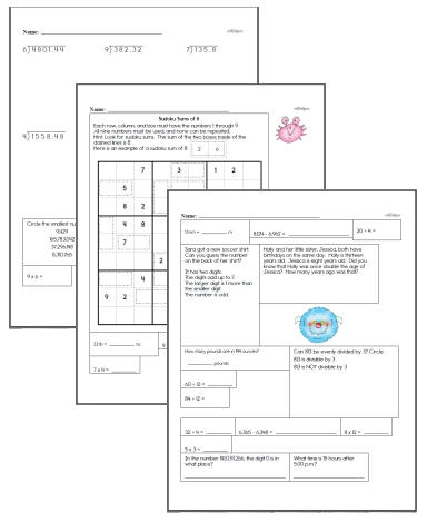 Free Sixth Grade Math Worksheets Edhelper Com