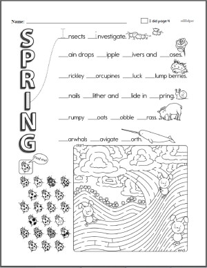 Kindergarten Workbooks for March