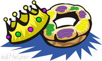 Mardi Gras Day<BR>King Cake