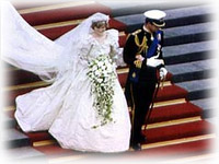 Anniversary of Charles and Diana's wedding<BR>The Wedding of the Century