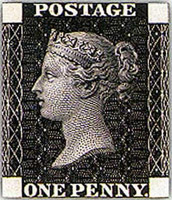 World's 1st postage stamp<BR>The Penny Black