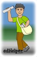 Newspaper Carriers Day<BR>Newspaper Character