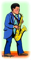 Saxophone Day<BR>Playing the Blues