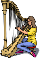 Harp and Harpist