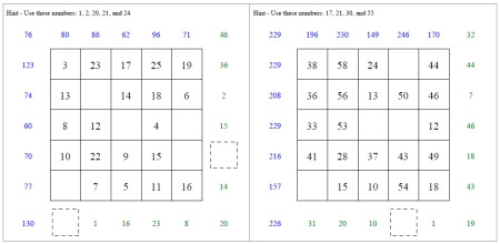 Subtraction Squares