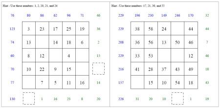 Subtraction Squares