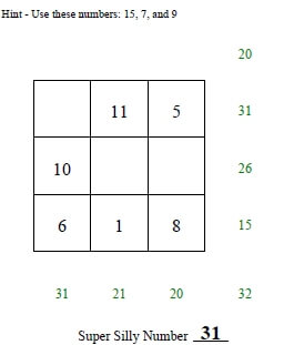 Super Silly Squares Worksheets