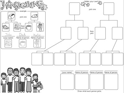 Preschool Thanksgiving, Native Americans, and Pilgrim PDF Worksheets