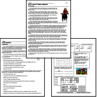 Reading Comprehension Worksheets Free PDF Printables EdHelper.com