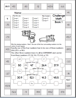 Weekly Math Worksheets
