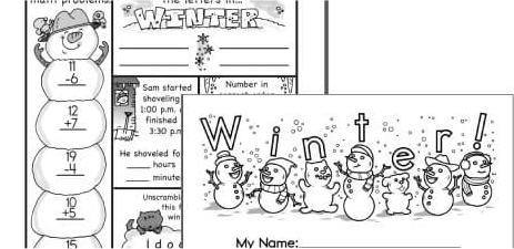 Preschool Winter Activity Printables