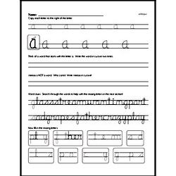 How to write cursive uppercase A workbook.