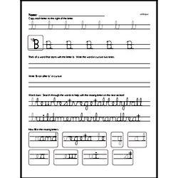 How to write cursive uppercase B workbook.
