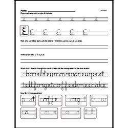 How to write cursive uppercase E workbook.