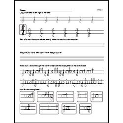 How to write cursive uppercase J workbook.